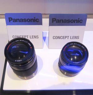 De to nye konseptobjektivene til Panasonic ble vist frem på CES 2012.