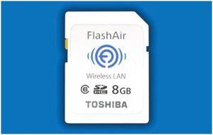 Toshibas nye SDHC-minnekort med ny trådløs teknologi.