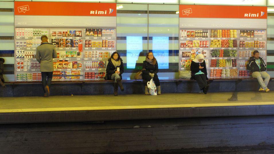 Nå kan du velge dagligvarer på T-banen