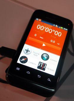 Defy Mini kommer med innebygget treningsapplikasjon fra Motorola.