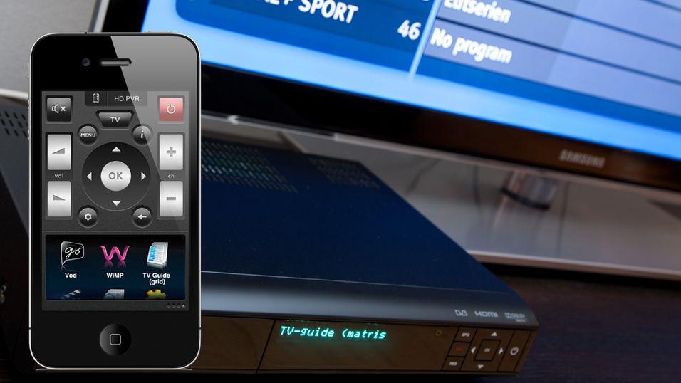 Etter den siste programvareoppdateringen, får Canal Digitals nye HD-PVR nå støtte for fjernstyring via mobilapper. (Foto: Kurt Lekanger / Canal Digital)