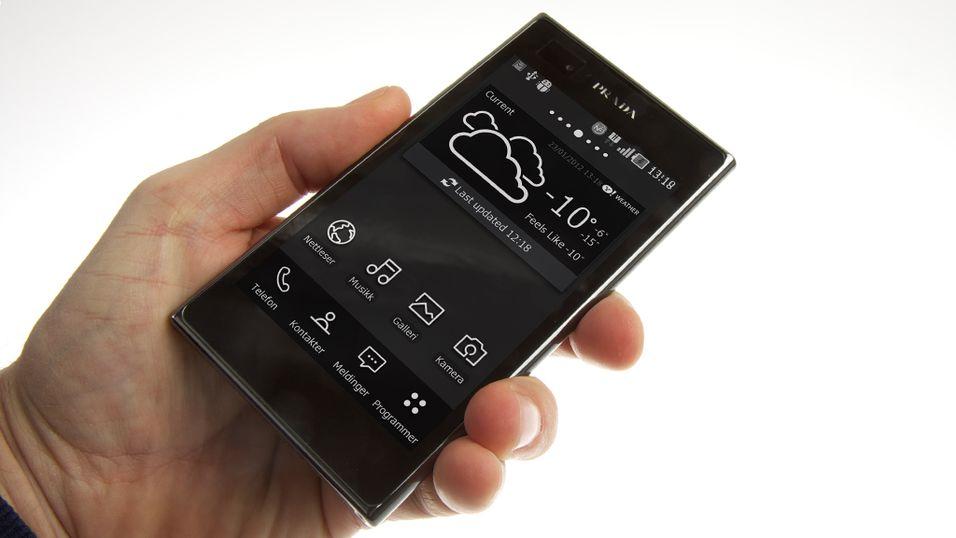 Prada by LG 3.0 har 4,3-tommers skjerm med svært høy lysstyrke. (Foto: Kurt Lekanger)