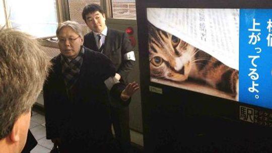 Ved hjelp av ansiktsgjenkjennelse kan direktør Takashi Yamamoto selge annonsørene nøyaktig statistikk over hvem som har sett reklamebudskapene.